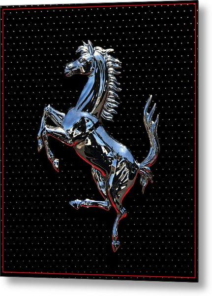 Ferrari Emblem 2 Metal Print
