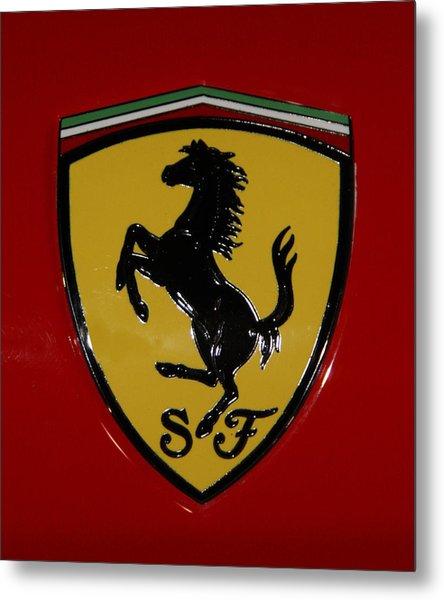 Ferrari Emblem 4 Metal Print