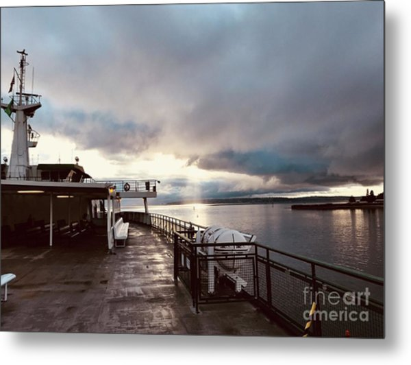 Ferry Morning Metal Print