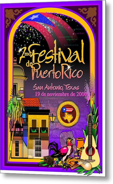 Festival De Puerto Rico Metal Print by William R Clegg