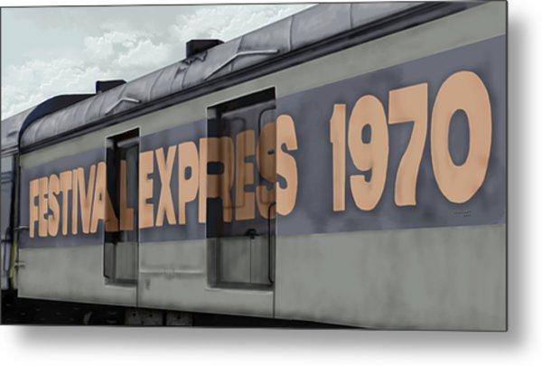 Festival Express Metal Print
