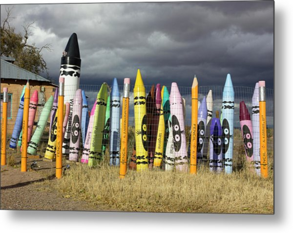 Festival Of The Crayons Metal Print