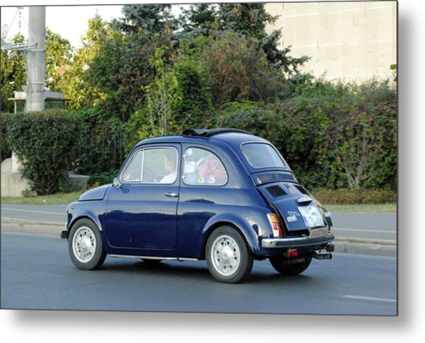 fiat 500 blue photograph by ciobotaru manuel. Black Bedroom Furniture Sets. Home Design Ideas