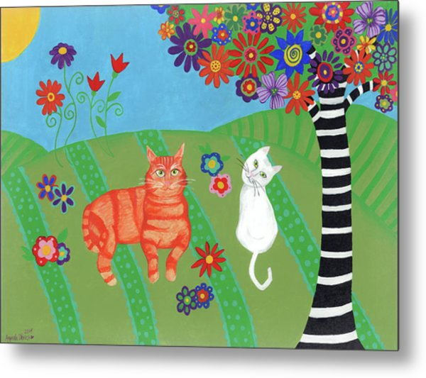 Field Of Cats And Dreams Metal Print
