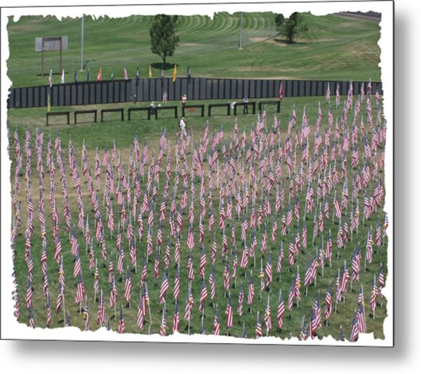 Field Of Flags - Gotg Arial Metal Print