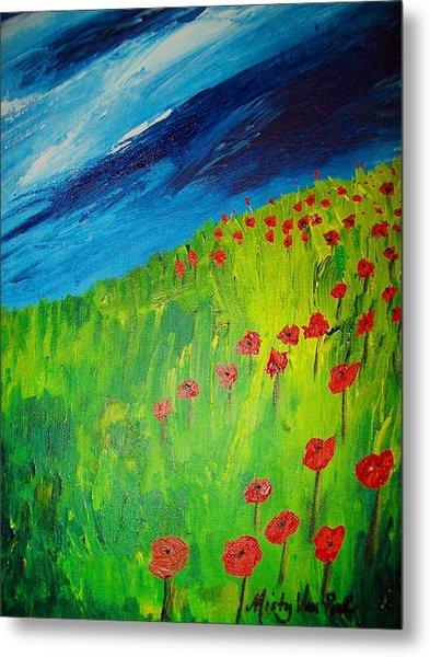 field of Poppies 2 Metal Print by Misty VanPool
