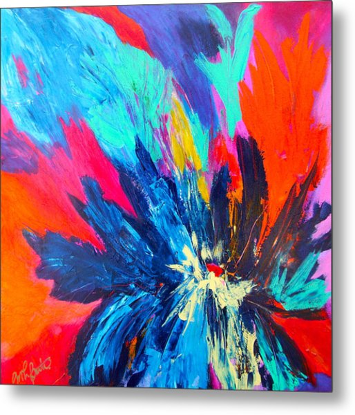 Fiery Flower Metal Print by Mary-Lynn Bastian