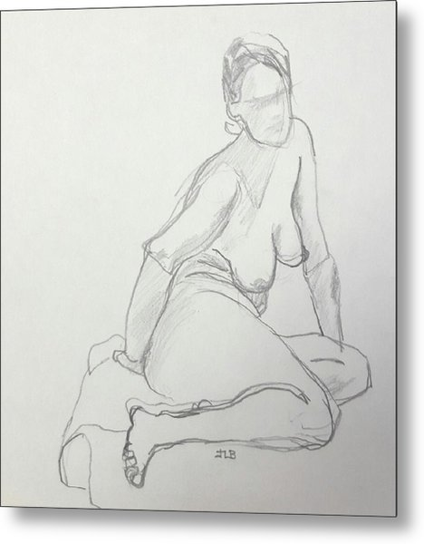 Figure Drawing Class Metal Print by Janet Butler