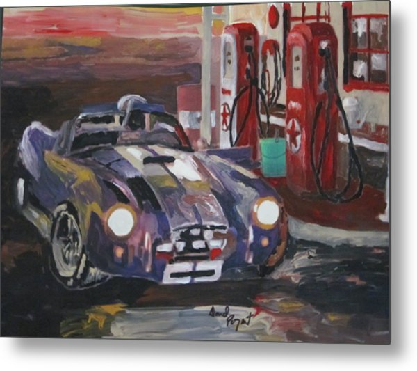 Fill Er Up Metal Print by David Poyant Paintings
