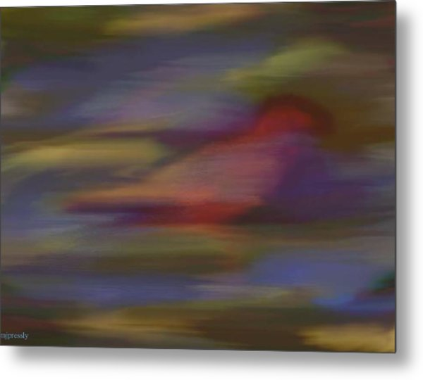 Find The Red Bird Metal Print by June Pressly