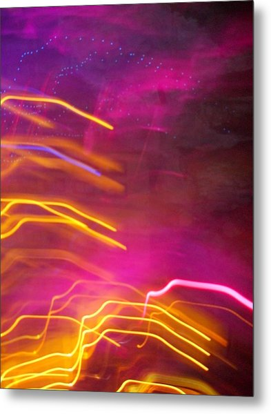 Fingers Of Light Metal Print by Lessandra Grimley
