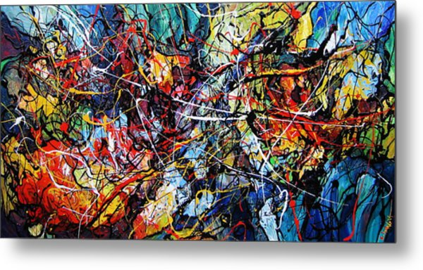 Fire And Ice Metal Print by Eugenia Mangra