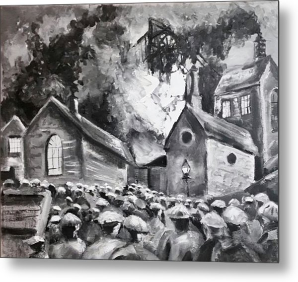 Fire At The Pit  Metal Print