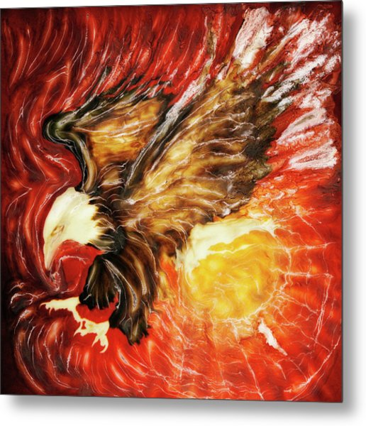 Fire Eagle Metal Print by Paul Tokarski