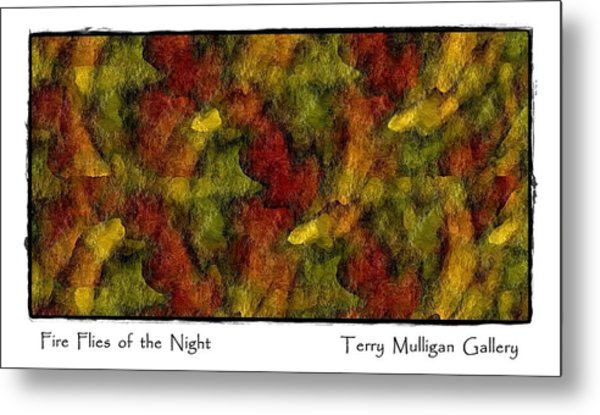 Fire Flies Of The Night Metal Print by Terry Mulligan