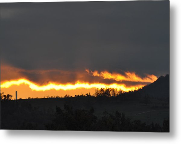 Fire In The Sky Metal Print by Jan Amiss Photography