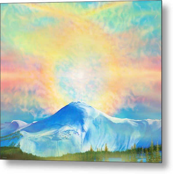 Fire Rainbow Over Alberta Peak Wolf Creek Colorado Metal Print