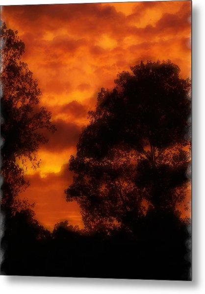 Fire Sky Metal Print by Ken Gimmi
