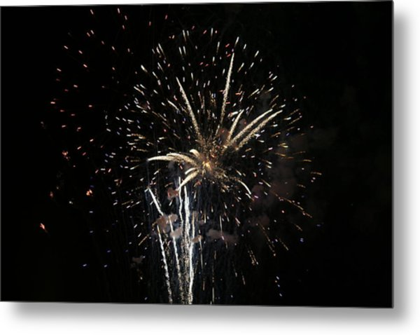 Firework In Action Metal Print by Magda Levin-Gutierrez