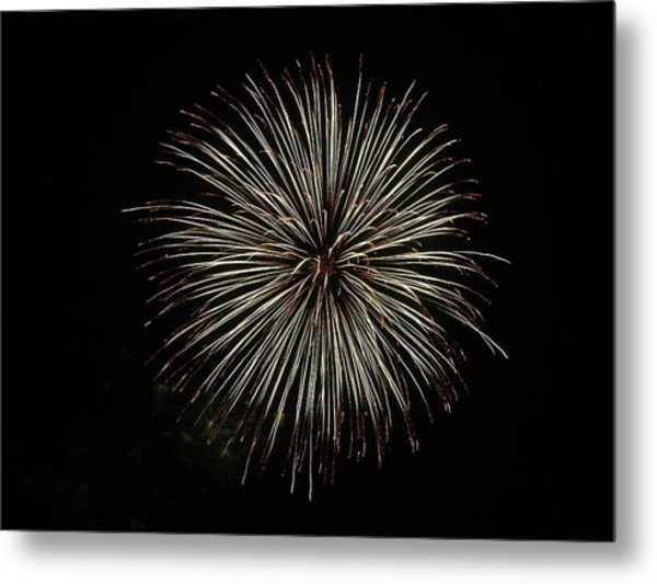 Fireworks From A Boat - 2 Metal Print