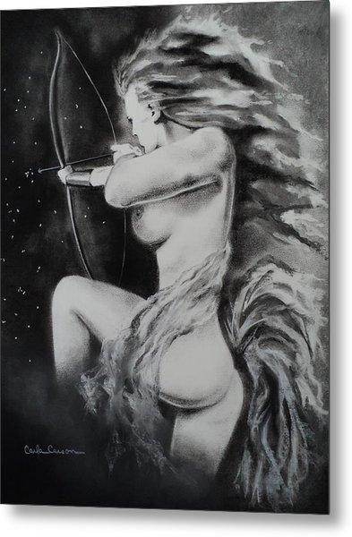 Firey Sagittarius Shooting Stars Metal Print
