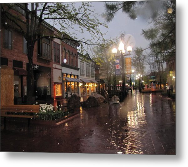 First Snow Of The Year Boulder Colorado Metal Print