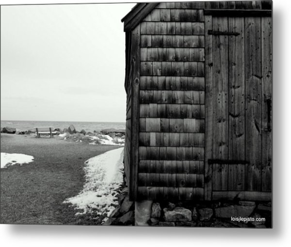 Fish House At The Sea Metal Print by Lois Lepisto