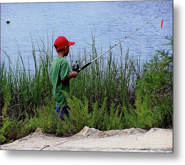 Fishing At Hickory Mound Metal Print