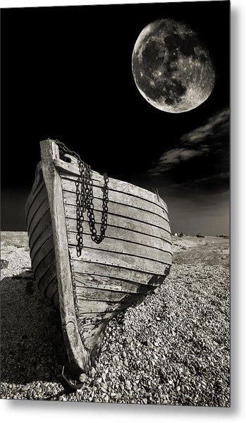 Fishing Boat Graveyard 3 Metal Print