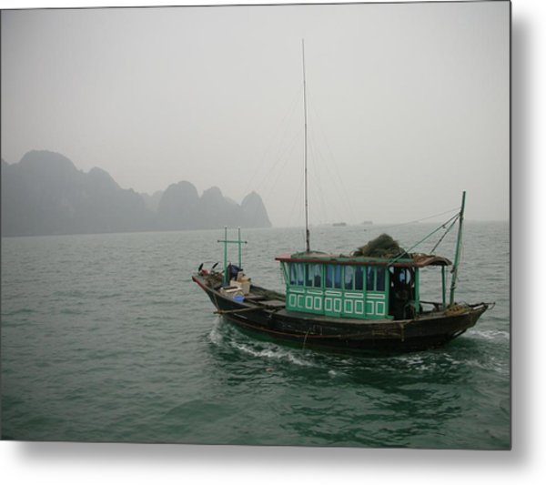 Fishing Boat In North Vietnam Metal Print