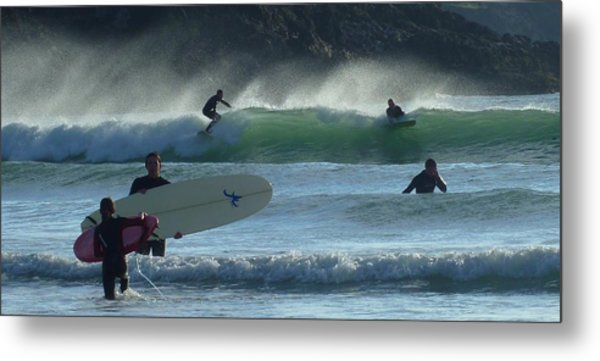 Fistral Beach Newquay Metal Print by Jane Stanley