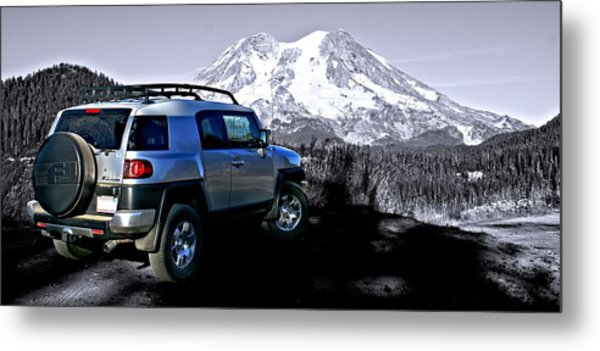 Fj Cruiser Mt. Rainier Washington Metal Print