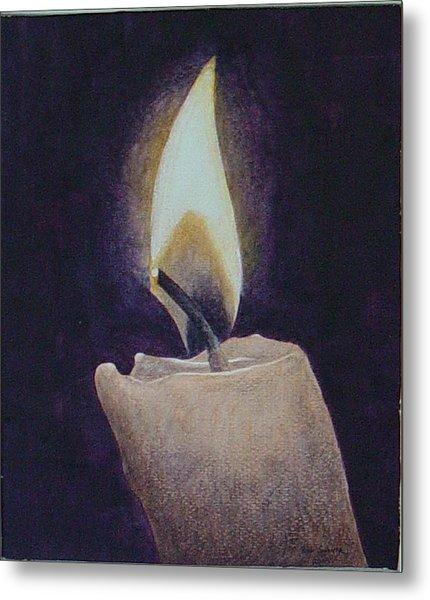 Flame Metal Print by Ron Sylvia