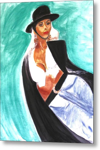 Flamenco Metal Print by Stanley Morganstein