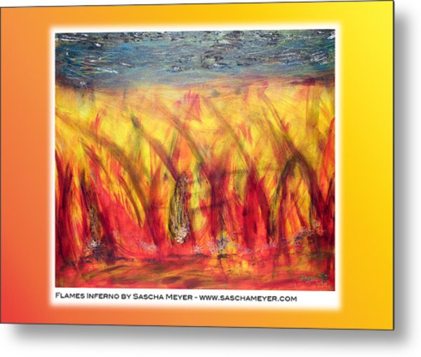 Flames Inferno On A Nice Background - Postcard Metal Print by Sascha Meyer