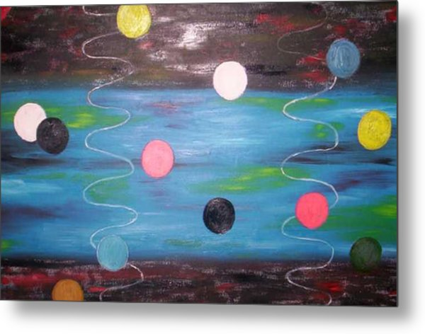 Floaiting Abstract Metal Print by Becca Haney