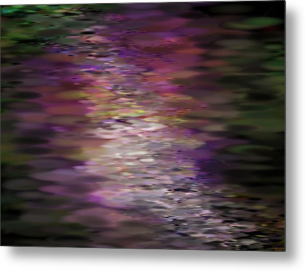Floral Reflections Metal Print