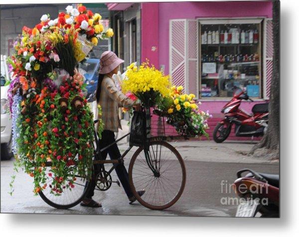 Floral Ride Metal Print