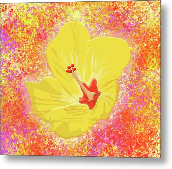 Flower In Bloom Metal Print by Melissa Stinson-Borg