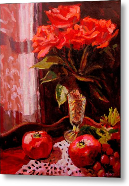 Flowers And Poms Metal Print by Brian Simons