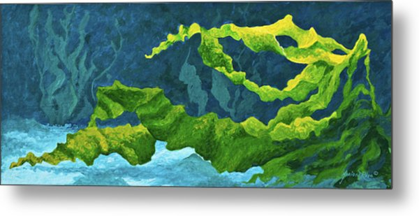 Flowing Kelp Metal Print
