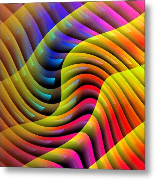 Flowing Paint Metal Print
