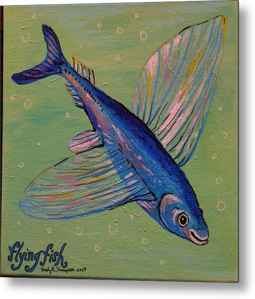 Flying Fish Metal Print by Emily Reynolds Thompson