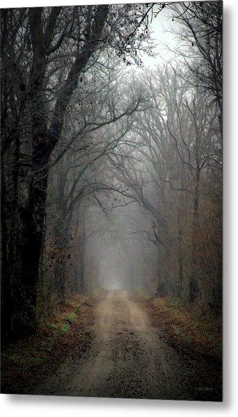 Fog Shrouded Lane  7861 Dp_2 Metal Print