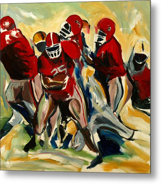 Football Pack Metal Print