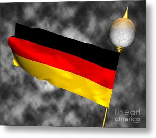 Football World Cup Cheer Series - Germany Metal Print by Ganesh Barad