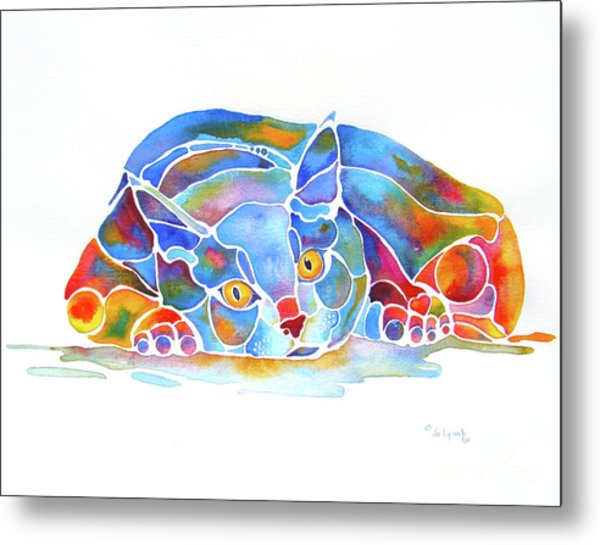 For Cat Lovers And Crazy Cat Ladies Metal Print by Jo Lynch