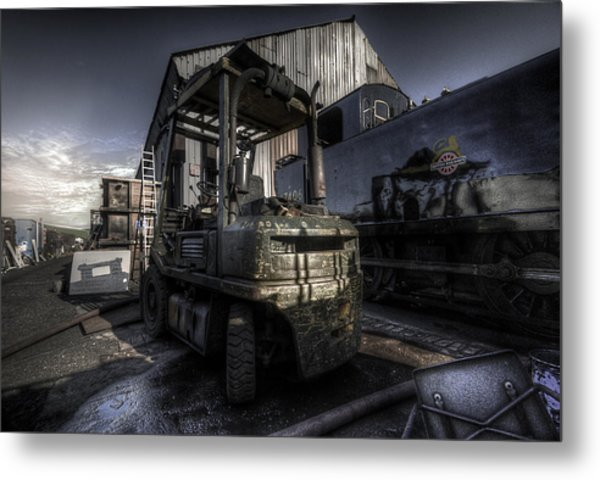 Forklift Metal Print
