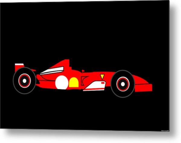 Formula One Ferrari Metal Print by Asbjorn Lonvig