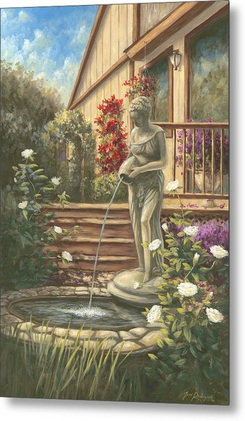 Fountain Lady Metal Print
